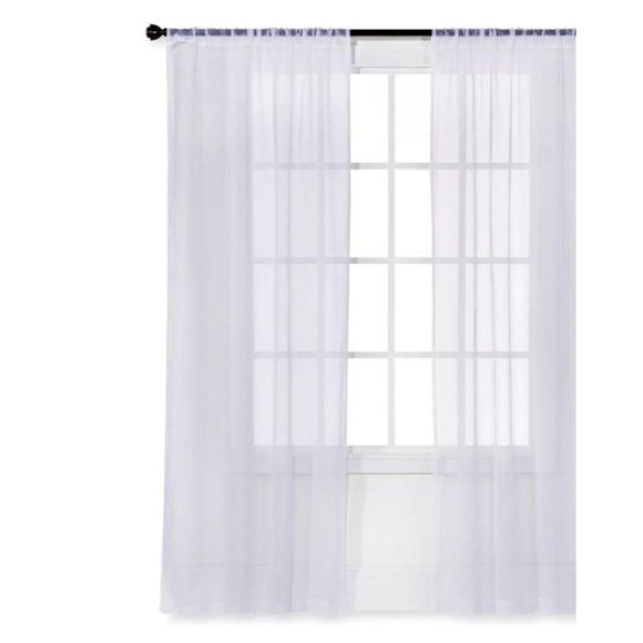 Sheer curtain window panel white 84″ L x 40″ W